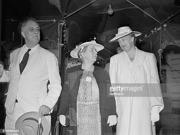 Queen Wilhelmina Visits Capital Washington DC President and Mrs Roosevelt as they greeted Queen Wilhelmina of the Netherlands upon her arrival at the...