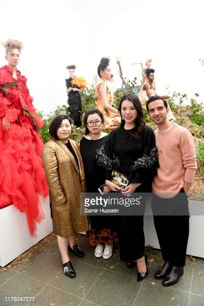 Queennie Yang, Caroline Hu, Wendy Yu, CEO & Founder of Yu Holdings and Imran Amed attend a presentation in celebration of BoF China Prize 2018 winner...