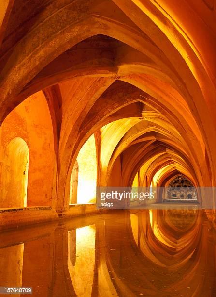 Queens Bäder Palast Interieur, Sevilla, Spanien