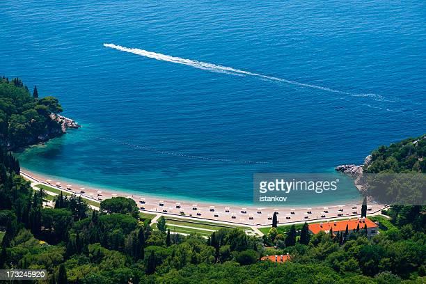 Queen's beach at Budva Riviera
