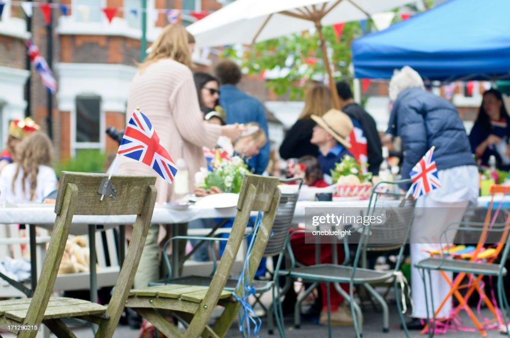 Queen's Diamond Jubilee Street Party, London : Stock Photo