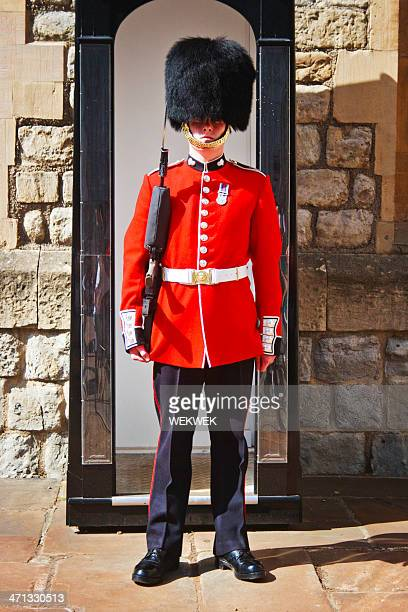 queen's guard, london, england - honor guard stock pictures, royalty-free photos & images