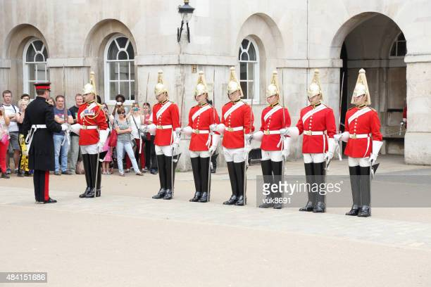 queen's life guard - british military stock photos and pictures