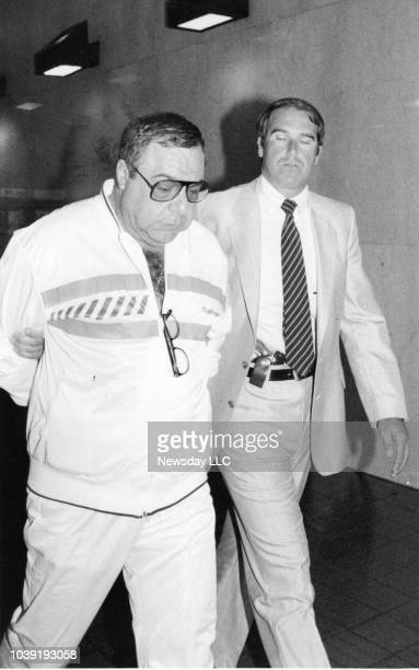 Angelo Ruggiero a member of organized crime is under arrest at FBI offices on Queens Blvd in Rego Park NY on June 20 1986