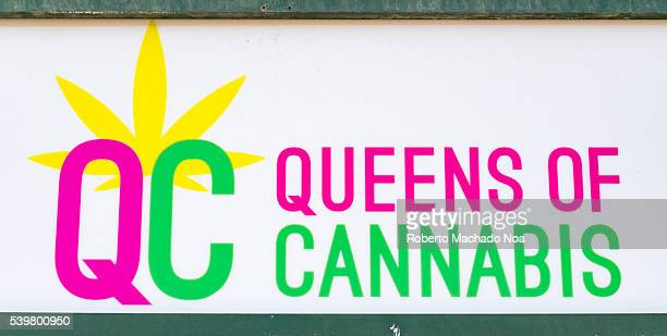 Queens of Cannabis Dipensary Sign in Bloor Street The city is in the middle of controversial legal issues regarding pot legalization