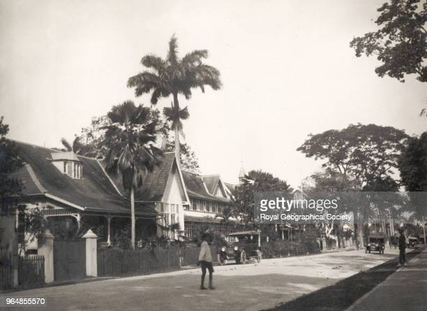 Queens Park Hotel in Port of Spain, Trinidad and Tobago, 1920.
