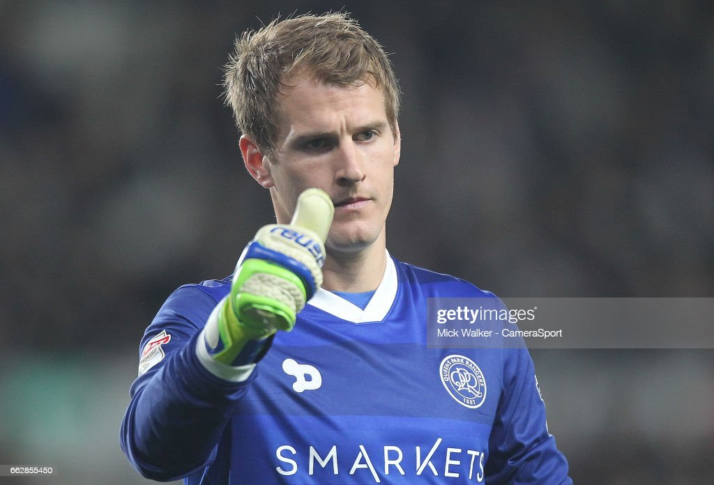Queens Park Rangers' Alex Smithies during the Sky Bet Championship match between Derby County and Queens Park Rangers at iPro Stadium on March 31, 2017 in Derby, England.