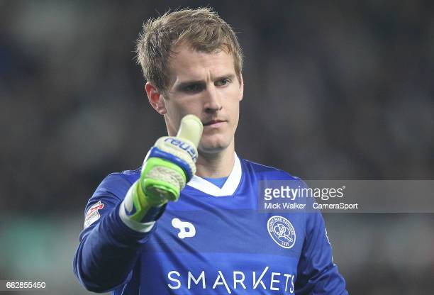 Queens Park Rangers' Alex Smithies during the Sky Bet Championship match between Derby County and Queens Park Rangers at iPro Stadium on March 31...