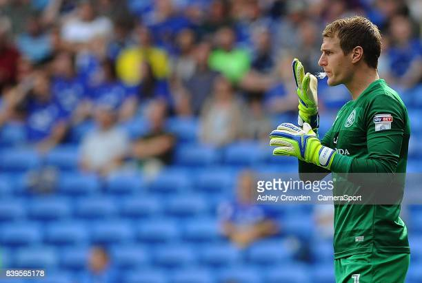 Queens Park Rangers' Alex Smithies during the Sky Bet Championship match between Cardiff City and Queens Park Rangers at Cardiff City Stadium on...
