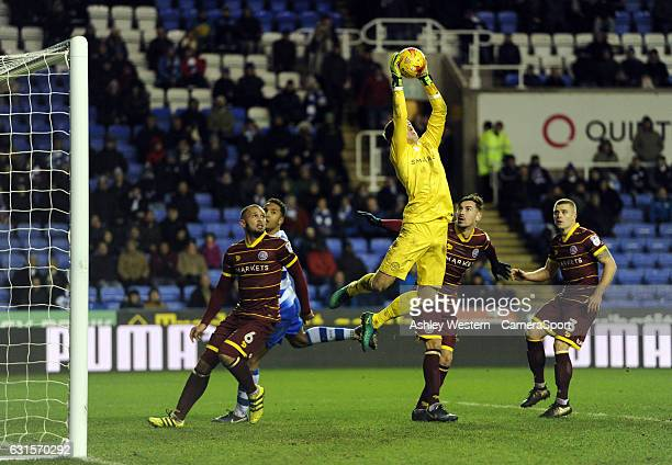 Queens Park Rangers' Alex Smithies in action during the Sky Bet Championship match between Reading and Queens Park Rangers at Madejski Stadium on...