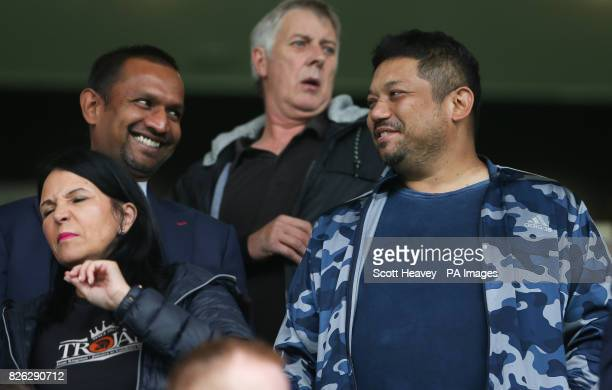 Queens Park Rangers CoChairman Ruben Gnanalingam during the preseason match at the Vitality Stadium Bournemouth PRESS ASSOCIATION Photo Picture date...