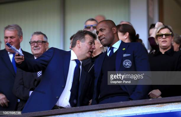 Queens Park Rangers Director of Football Les Ferdinand looks on during the Sky Bet Championship match between Ipswich Town and Queens Park Rangers at...