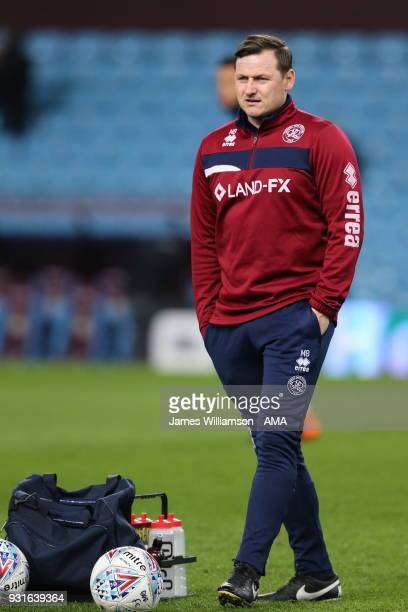Queens Park Rangers first team coach Marc Bircham during the Sky Bet Championship match between Aston Villa and Queens Park Rangers at Villa Park on...