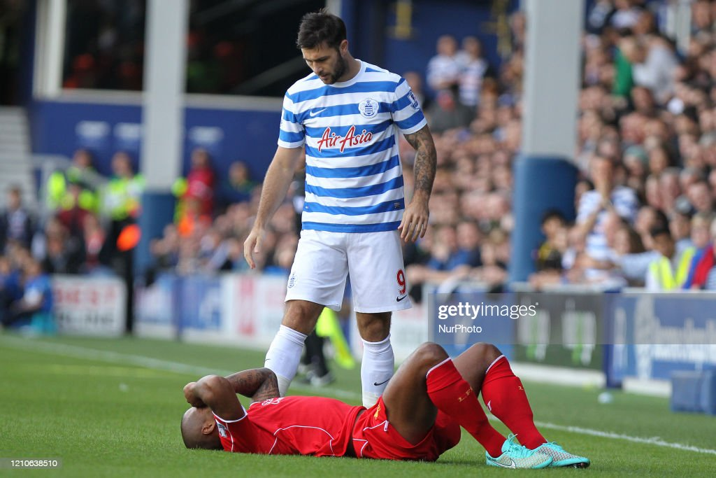 Queens Park Rangers Forward Charlie Austin Stands Over Liverpool News Photo Getty Images