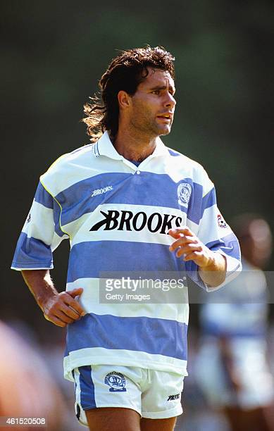Queens Park Rangers forward Roy Wegerle in action during a pre season friendly in July 1991 in London England USA international Wegerle played for...