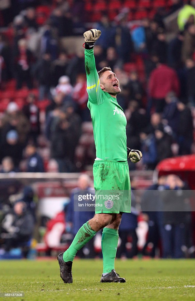 Queens Park Rangers keeper Robert green at the end of the Barclays Premier League match between Sunderland and Queens Park Rangers at the Stadium of Light on February 10, 2015 in Sunderland, England.