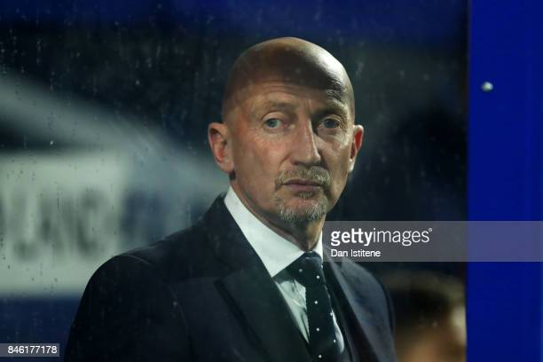 Queens Park Rangers managaer Ian Holloway looks on from the dugout before the Sky Bet Championship match between Queens Park Rangers and Millwall at...
