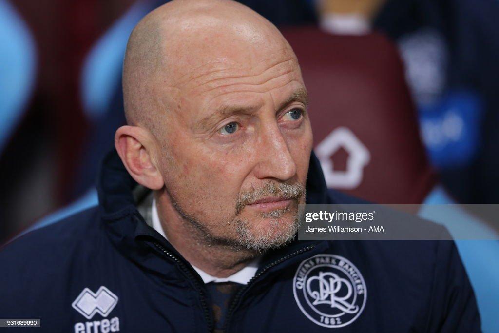 Queens Park Rangers manager Ian Holloway during the Sky Bet Championship match between Aston Villa and Queens Park Rangers at Villa Park on March 13, 2018 in Birmingham, England.