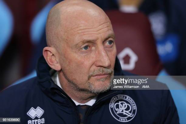 Queens Park Rangers manager Ian Holloway during the Sky Bet Championship match between Aston Villa and Queens Park Rangers at Villa Park on March 13...