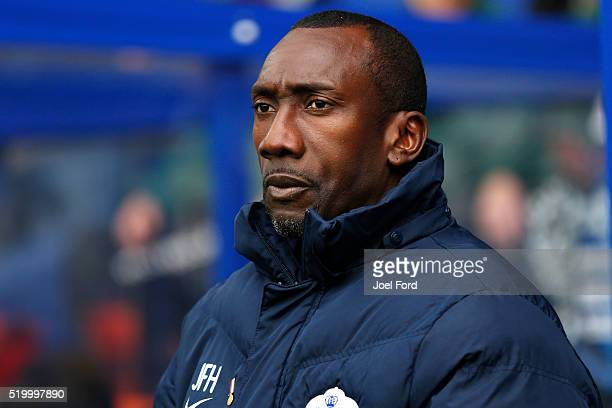 Queens Park Rangers manager Jimmy Floyd Hasselbaink prior to the Queens Park Rangers v Charlton Athletic Sky Bet Championship match at Loftus Road on...
