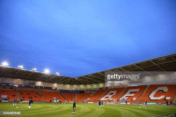 Queens Park Rangers manager Steve McClaren during the Carabao Cup Third Round match between Blackpool and Queens Park Rangers at Bloomfield Road on...