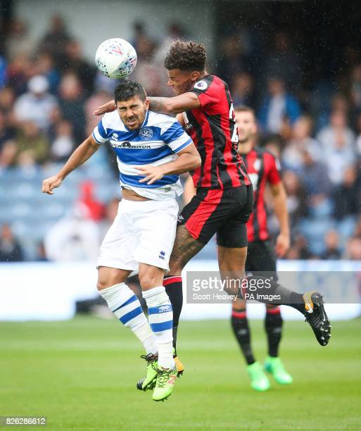 Queens Park Rangers' Massimo Luongo in action with Bournmouth's Tyrone Mings during the preseason match at the Vitality Stadium Bournemouth PRESS...
