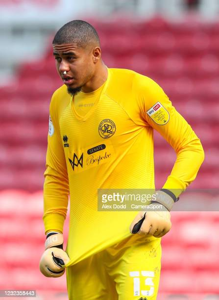 Queens Park Rangers' Seny Dieng during the Sky Bet Championship match between Middlesbrough and Queens Park Rangers at Riverside Stadium on April 17,...