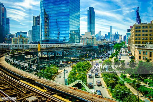 queens plaza, new york - queens new york city stock pictures, royalty-free photos & images