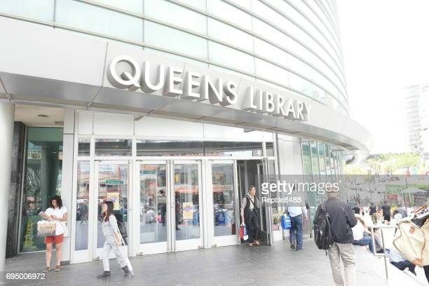 queens public library in new york ciry - flushing queens stock pictures, royalty-free photos & images