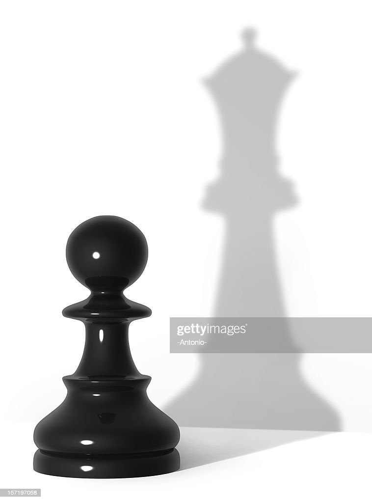 Queen's shadow : Stock Photo