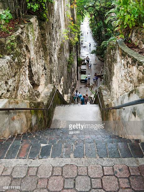queens staircase in nassau bahamas - nassau stock pictures, royalty-free photos & images