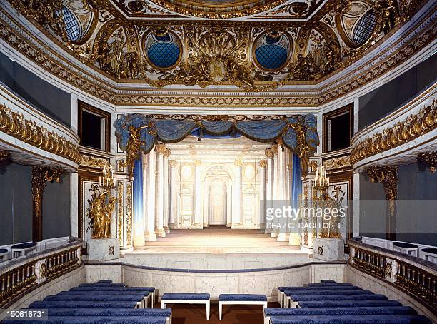 Queen's Theatre designed by architect AngeJacques Gabriel Trianon gardens Palace of Versailles France 18th century