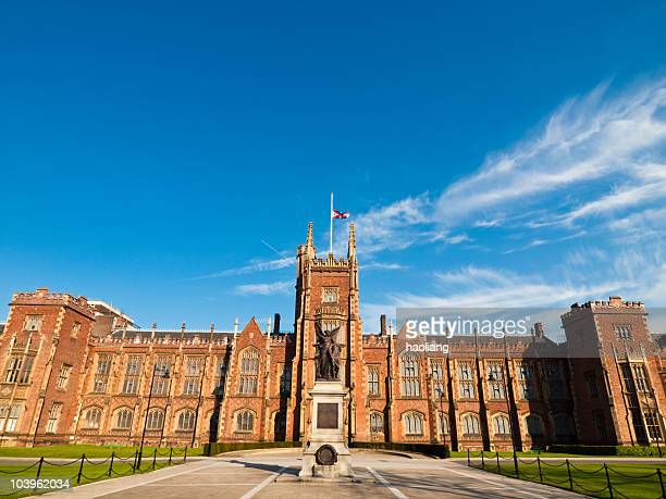 queen's university, belfast, northern ireland - belfast stock pictures, royalty-free photos & images