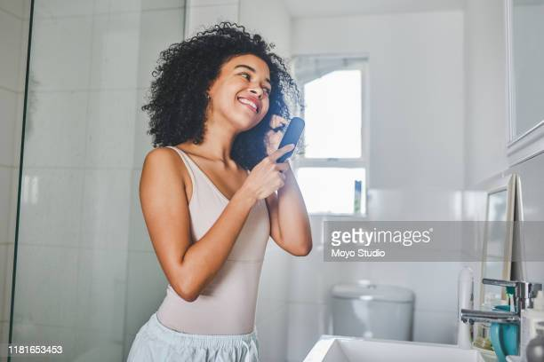 queens wake up in the morning and fix their crowns - hairbrush stock pictures, royalty-free photos & images
