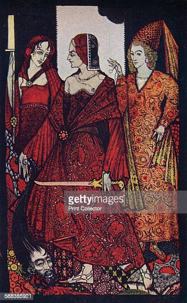 Queens Who Cut the Bogs of Glanna, Judith of Scripture, and Glorianna', 1910. One of the 'Queens? Panels' designed for the library of Laurence...