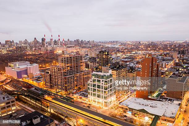 queensboro plaza - queens - nyc - long island city stock photos and pictures