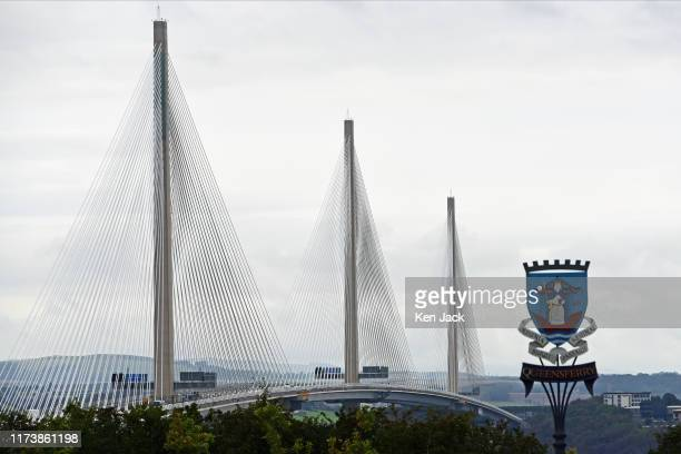 Queensferry Crossing road bridge over the Forth Estuary as it takes top honours as the best infrastructure project in the UK in the prestigious Royal...