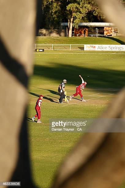 Queensland and Victoria play in the semi final during the 20415 Imparja Cup on February 13 2015 in Alice Springs Australia