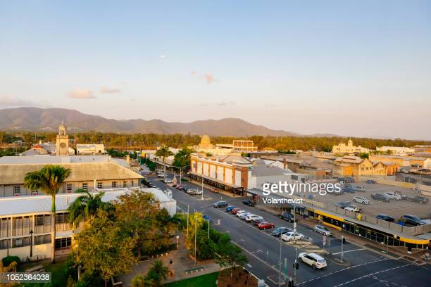 australia-, queensland, capricorn coast, rockhampton - town stock pictures, royalty-free photos & images