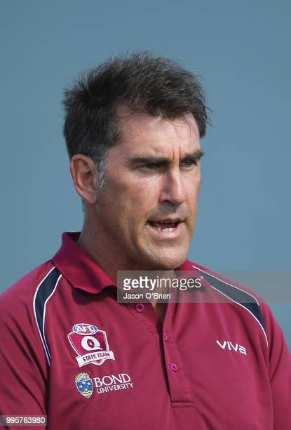 Queensland coach Craig Starcevich during the AFLW U18 Championships match between Queensland and Vic Metro at Broadbeach Sports Club on July 11 2018...