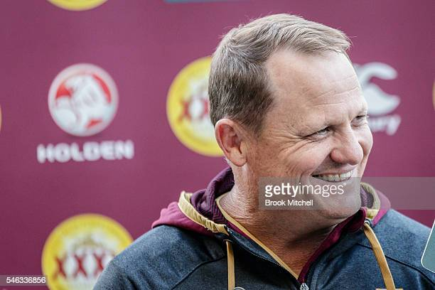 Queensland coach Kevin Walters fronts the media during the Queensland Maroons Captain's Run at ANZ Stadium on July 12 2016 in Sydney Australia