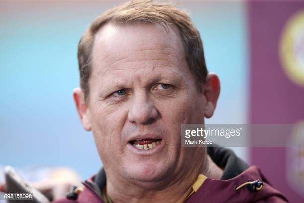 Queensland coach Kevin Walters speaks to the media during a Queensland Maroons State of Origin captain's run at ANZ Stadium on June 20 2017 in Sydney...