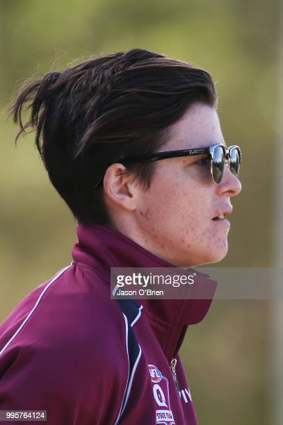 Queensland coach Sam Virgo during the AFLW U18 Championships match between Queensland and Vic Metro at Broadbeach Sports Club on July 11 2018 in Gold...