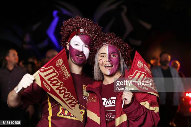 Queensland fans arrive at the ground before game three of the State Of Origin series between the Queensland Maroons and the New South Wales Blues at...