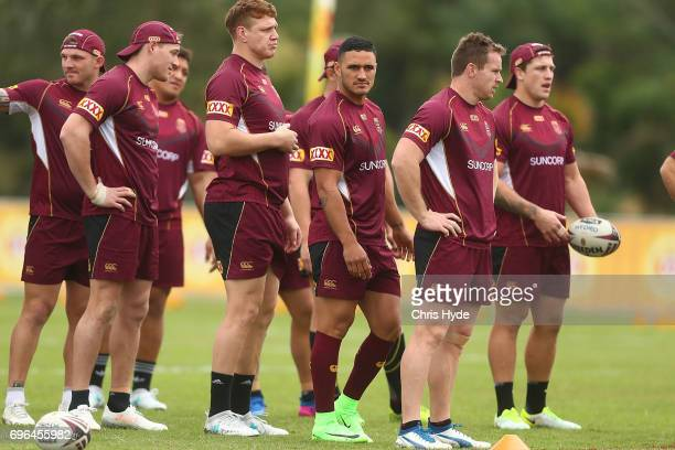 Queensland Maroons State of Origin training session at Intercontinental Sanctuary Cove Resort on June 16 2017 in Brisbane Australia