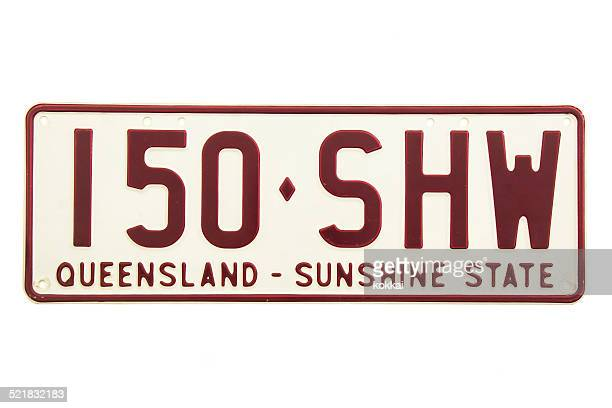 Queensland (QLD) Number Plate