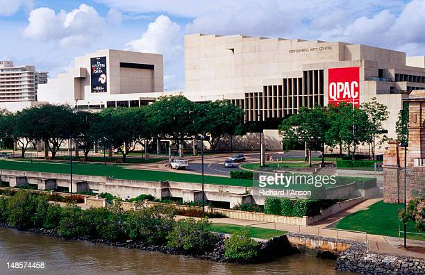 queensland performing arts centre in the cultural centre precinct. - performing arts center stock pictures, royalty-free photos & images
