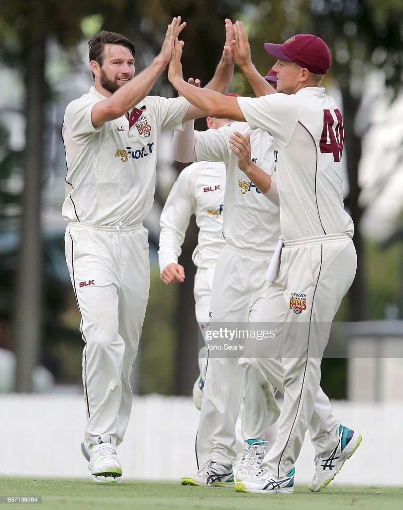 Sheffield Shield Final - Queensland v Tasmania: Day 2