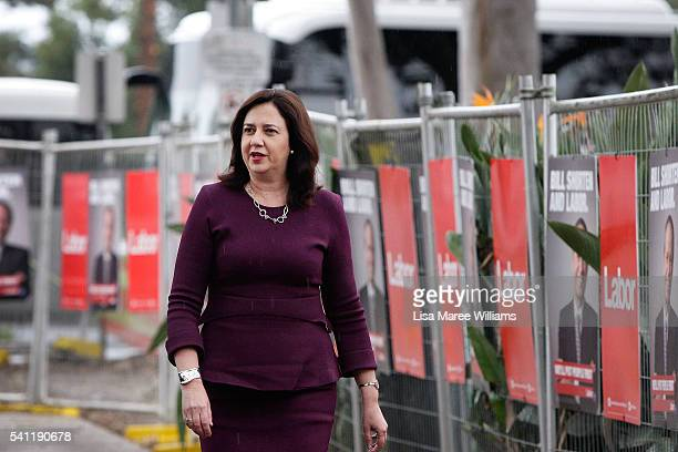 Queensland Premier Annastasia Palaszczuk arrives at the Australian Labor Party 2016 Federal Campaign Launch at the Joan Sutherland Performing Arts...