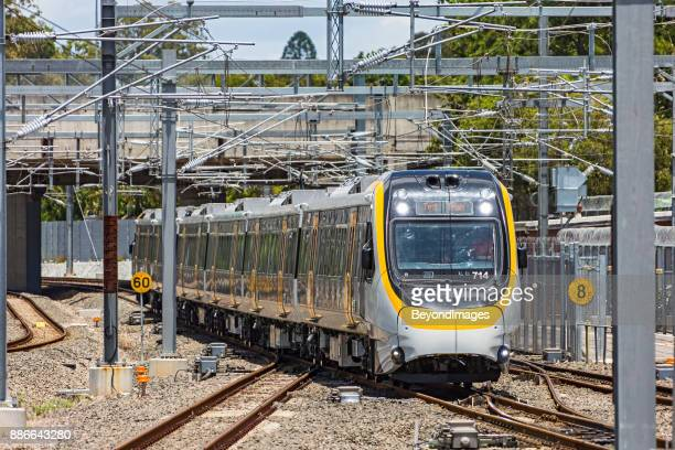 queensland rail new generation rollingstock (ngr) test train on trial - new generation stock pictures, royalty-free photos & images